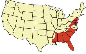 carte repartition serpent des blés